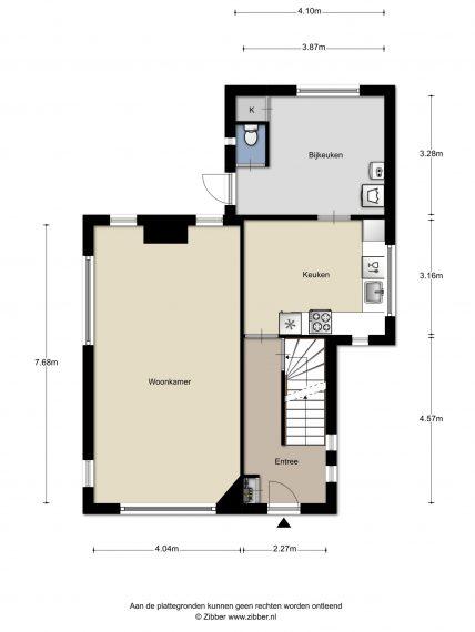 Gratis plattegrond -- begane grond vrijstaande woning met garage Made